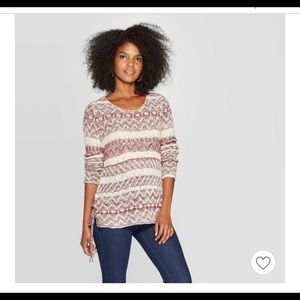 Knox Rose Sweater Deep Scoop Neck Side LaceUp